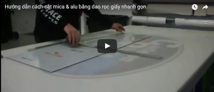 [Video] 2 bước cắt tấm nhựa mica tại nhà đơn giản bằng tay