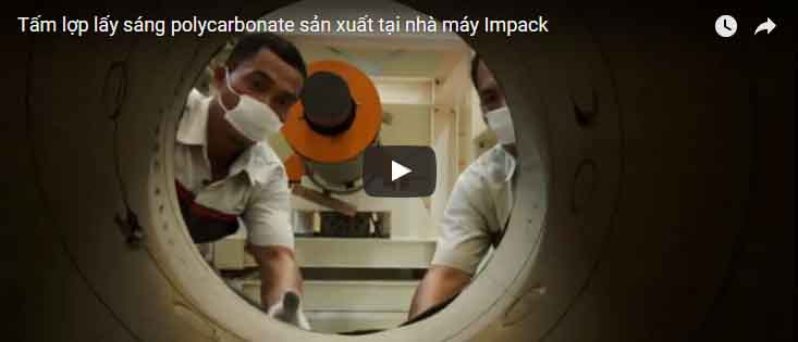 Video sản xuất tấm lợp lấy sáng polycarbonate tại nhà máy