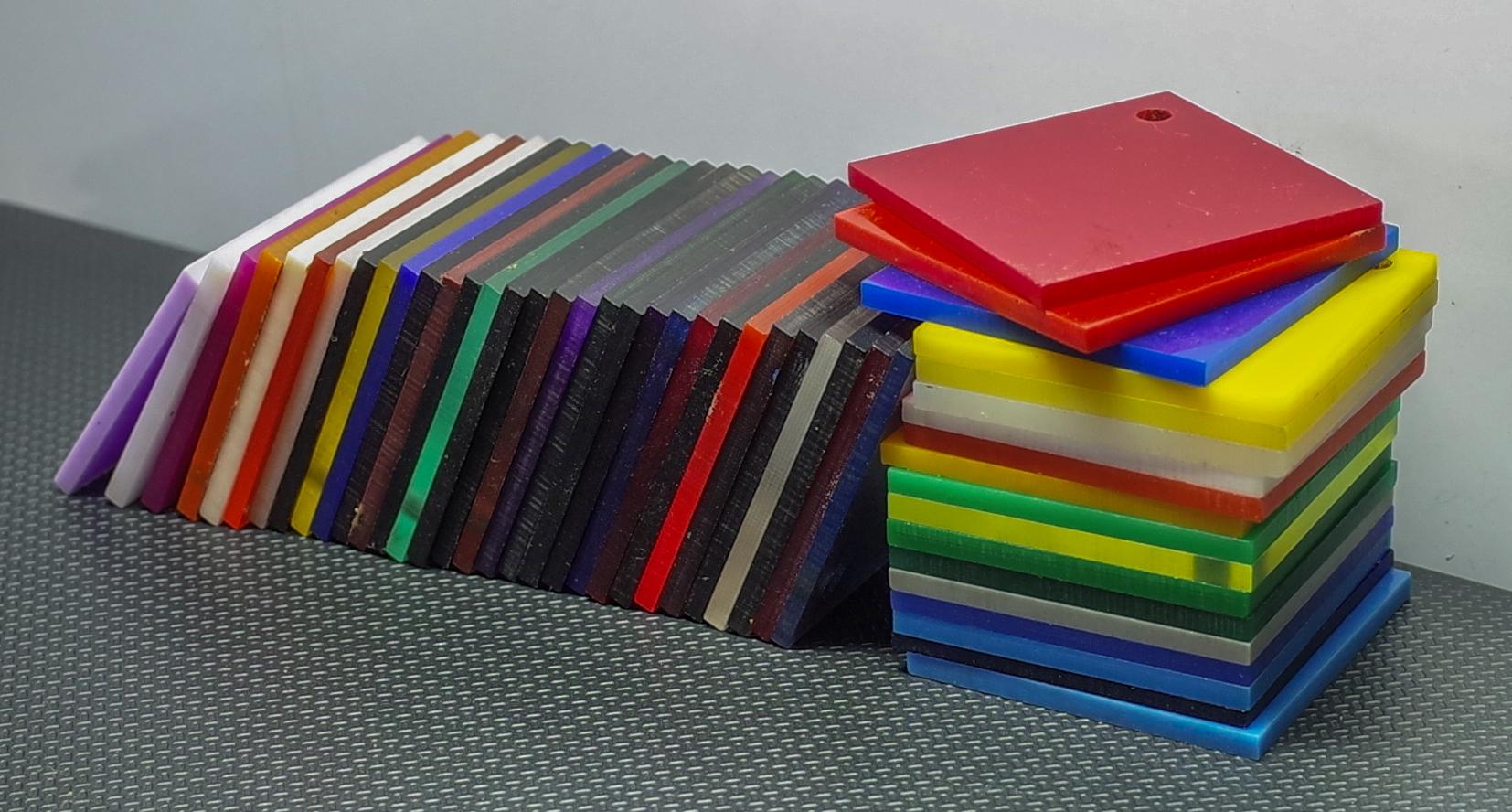 Bảng báo giá tấm nhựa mica màu xanh, đỏ, tím, vàng, nâu, đen, cam các loại