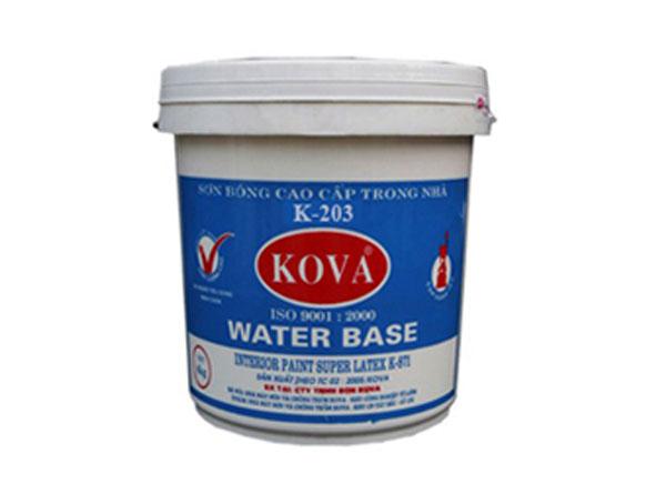 Sơn nước trong nhà KOVA K203 trắng thùng 5kg