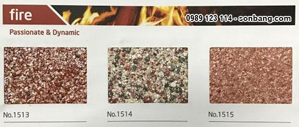 Mã màu sơn đá nghệ thuật đặc biệt Kova fire