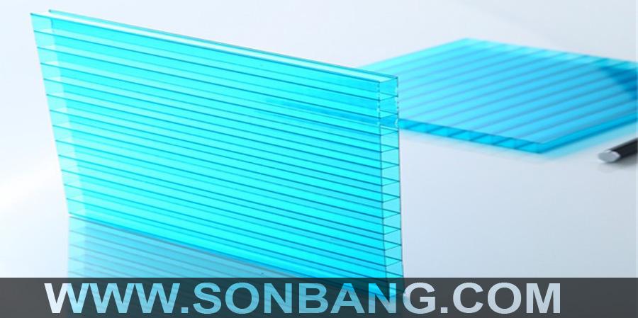 Tấm poly rỗng X-lite màu trong clear